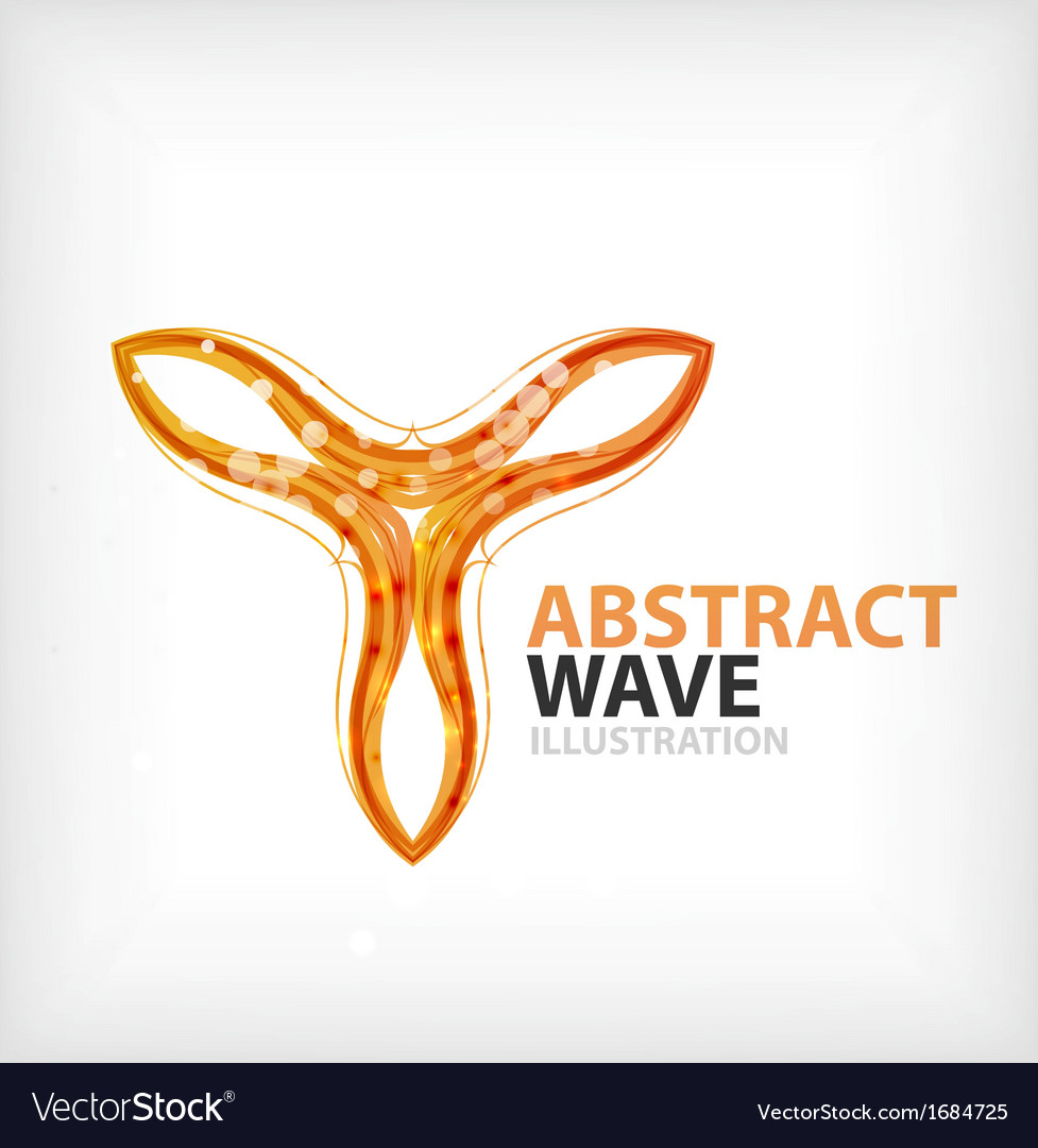Business orange wavy business symbol vector