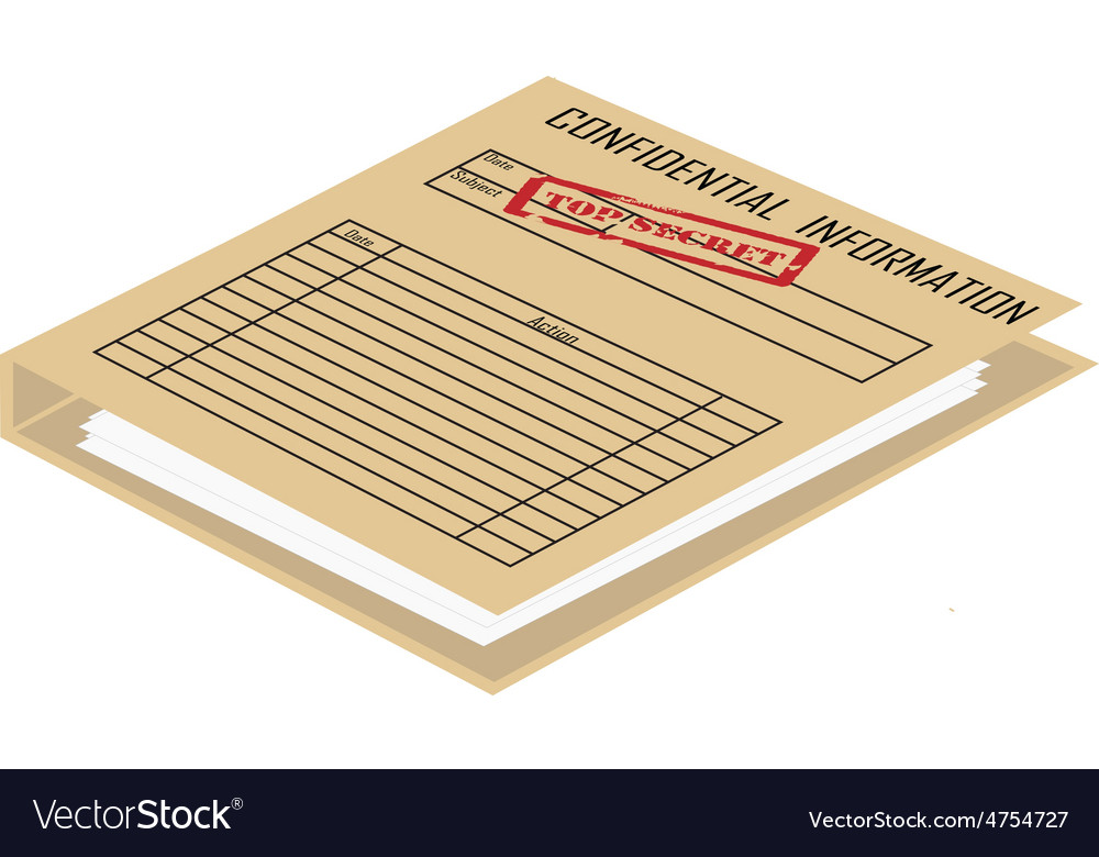 Top secret file vector