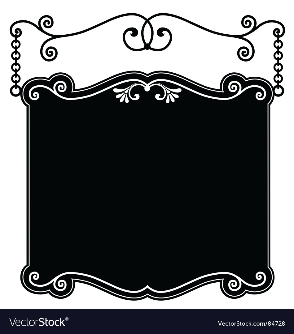 Sign panel black vector