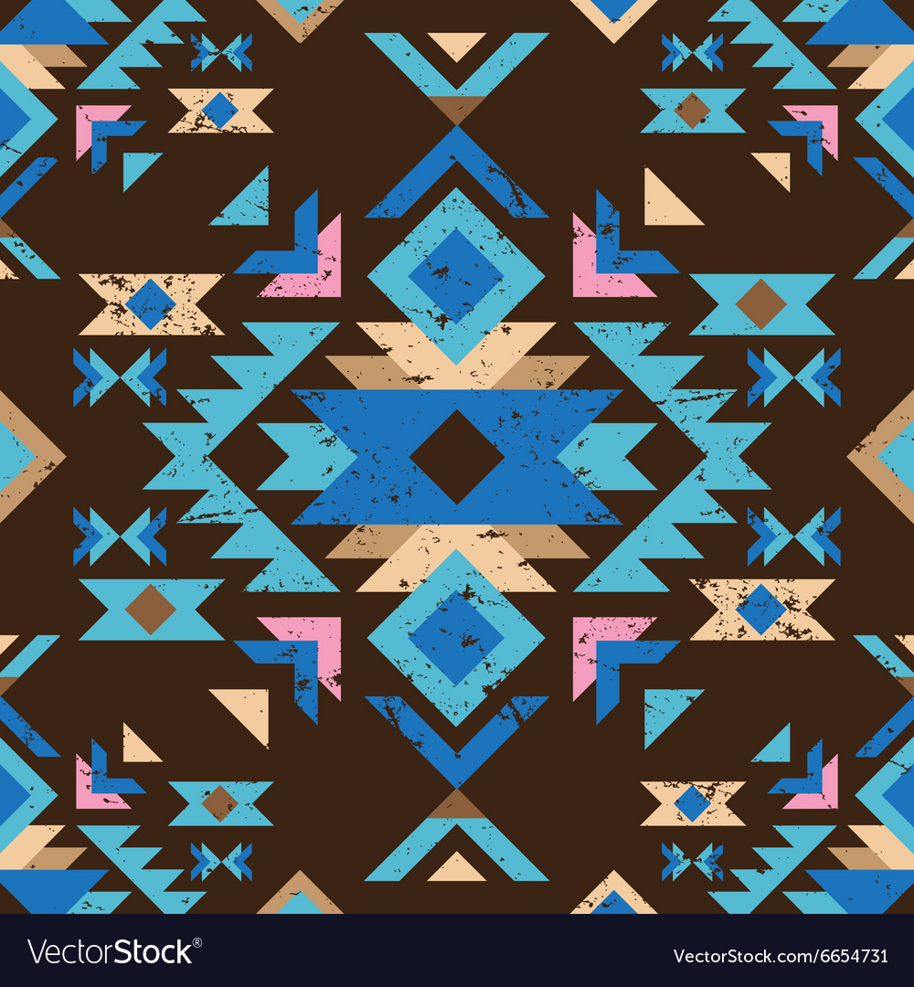 Colorful tribal seamless pattern vector
