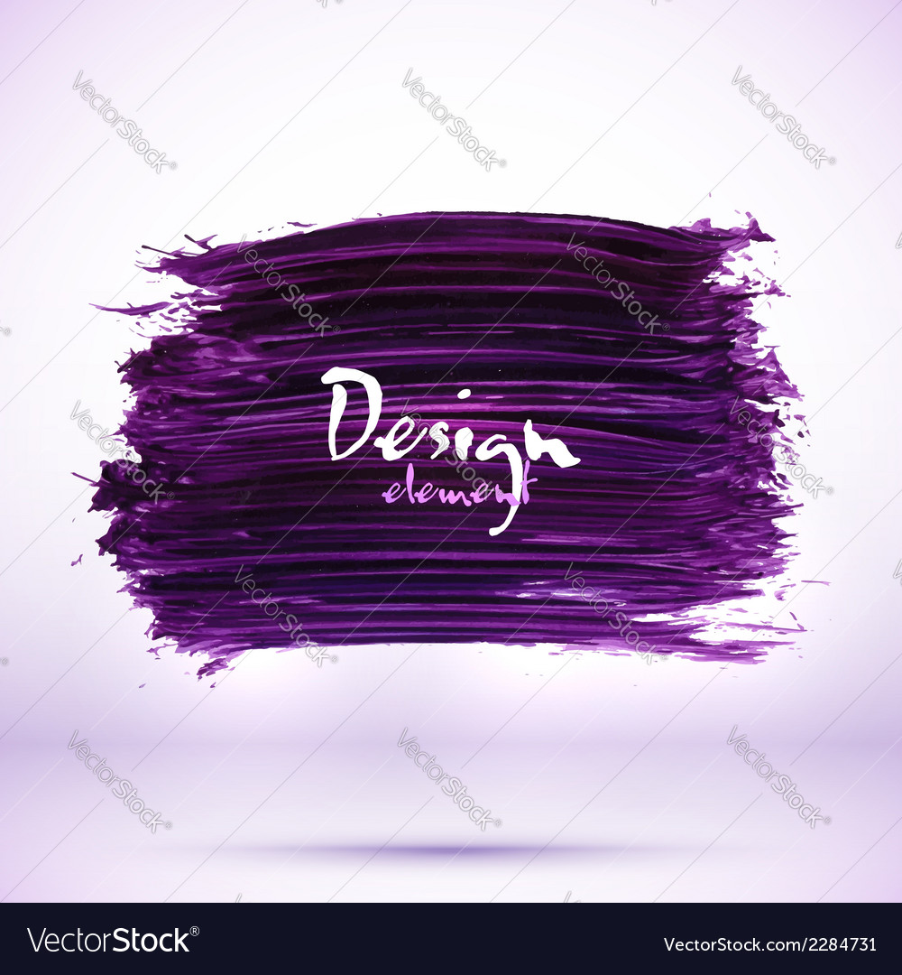 Purple paint texture stain with shadow vector
