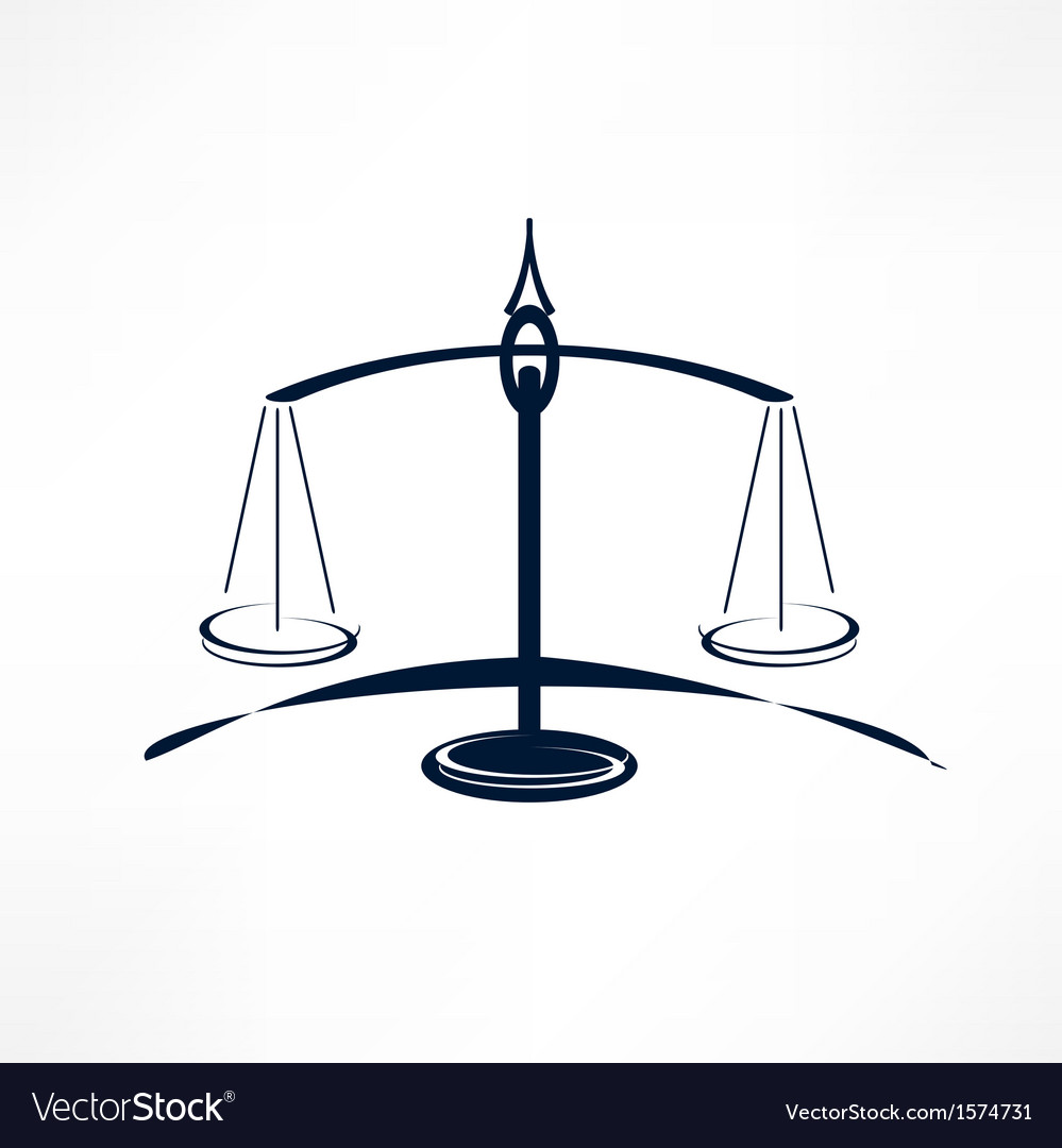 Scales of justice vector