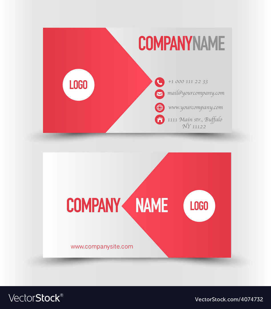 Business card design set template for company vector