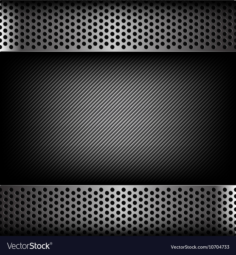 Abstract background dark and black carbon fiber vector