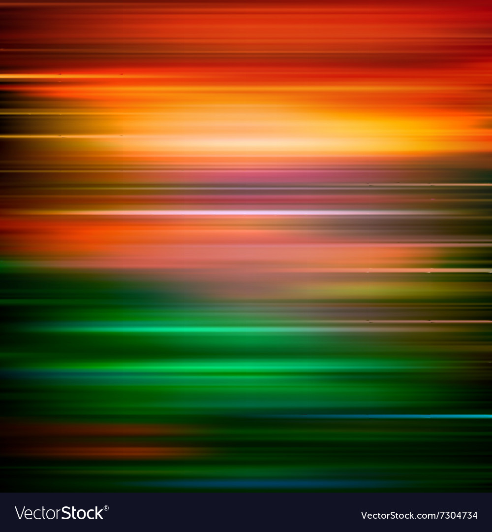 Abstract red green motion blur background vector