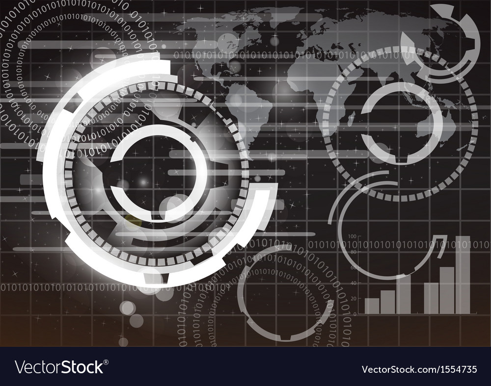 Abstract globe and technology background vector