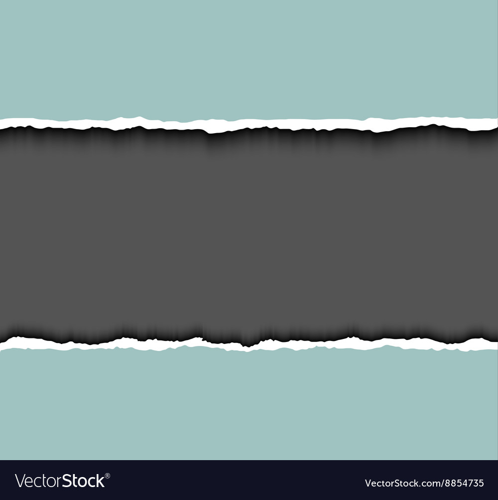 Torn paper frame for text tear cardboard vector
