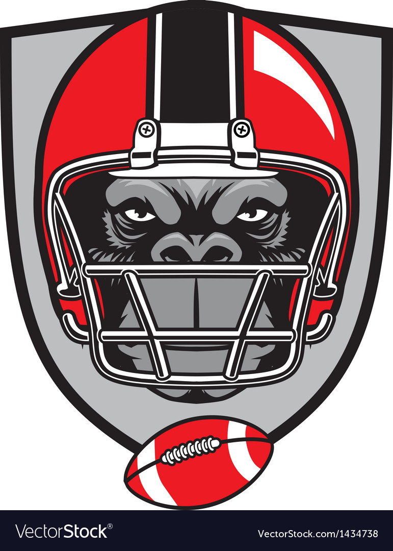 Ape football mascot vector