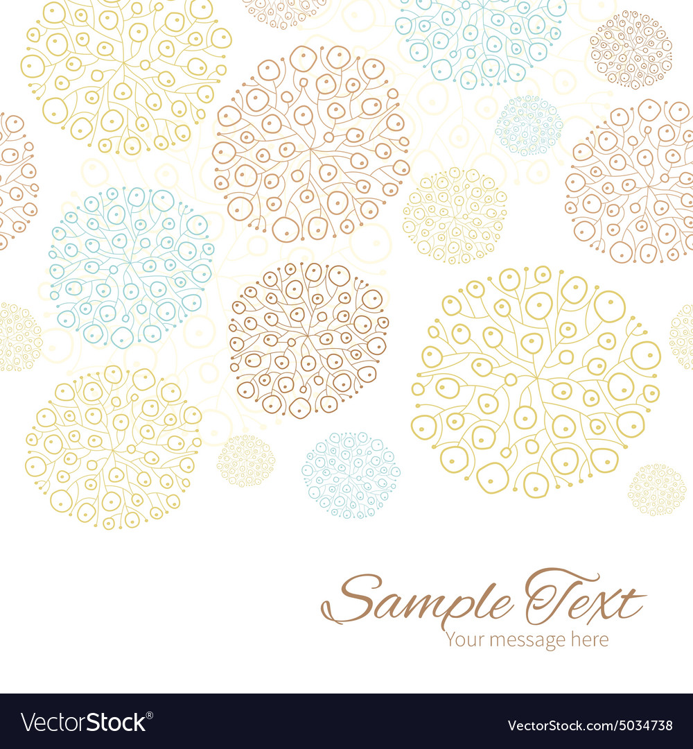 Blue brown abstract seaweed texture vector