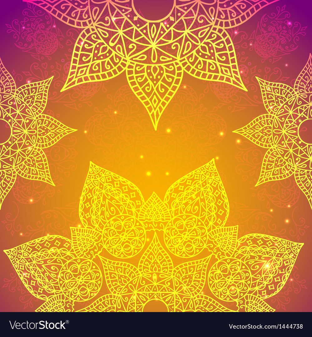Golden ethnic indian background vector