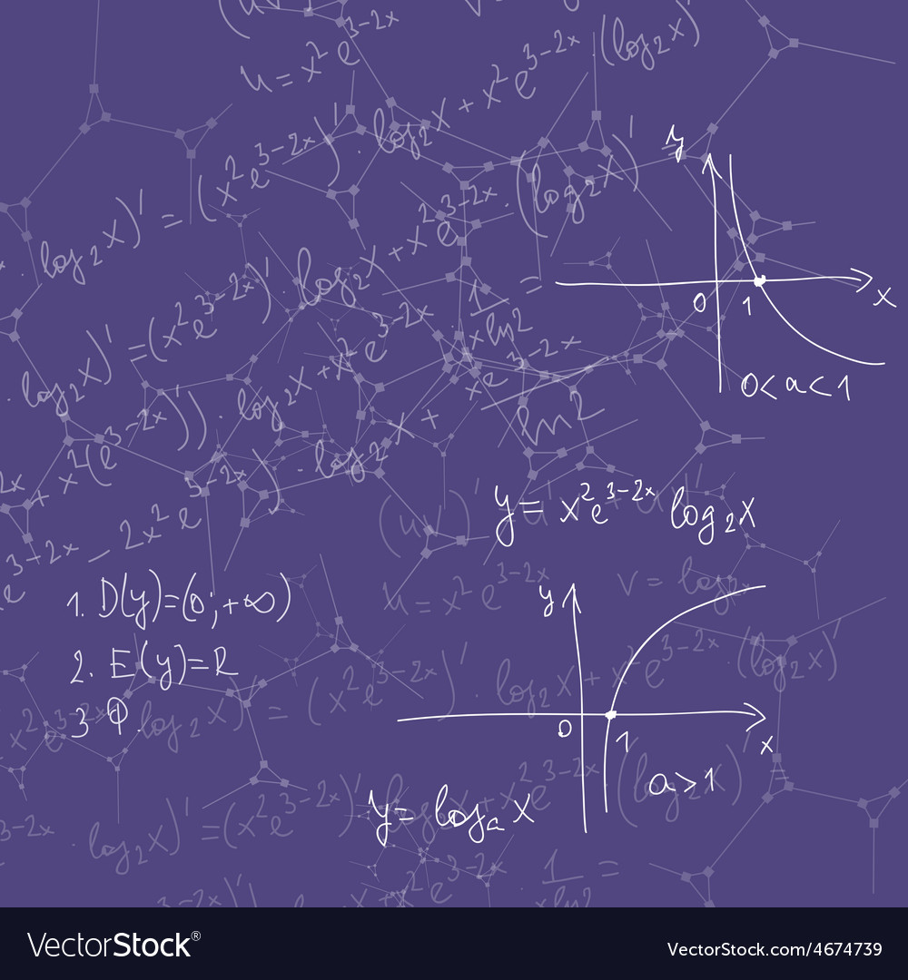 Abstract background with mathematical formulas vector