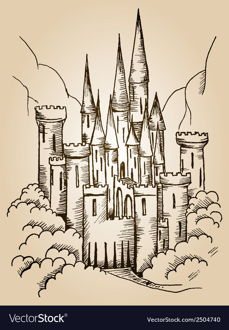 Castle card vector