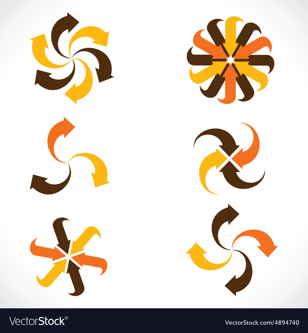 Creative arrow icon stock vector