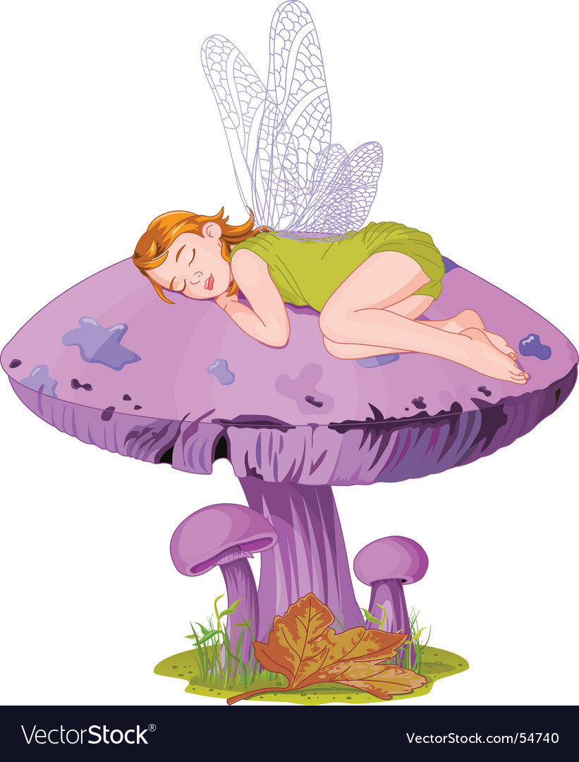 Sleeping elf vector
