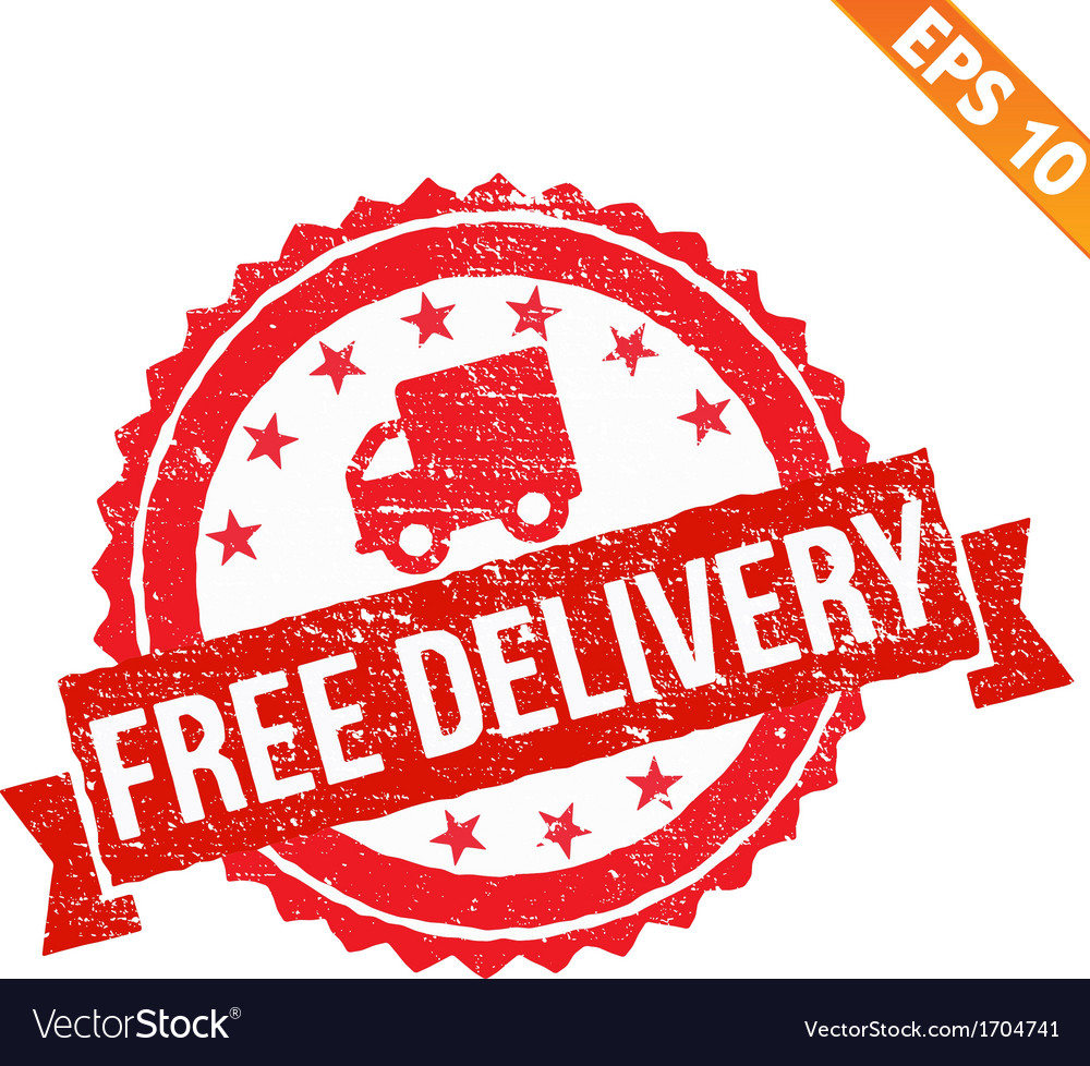 Rubber stamp free delivery   eps10 vector