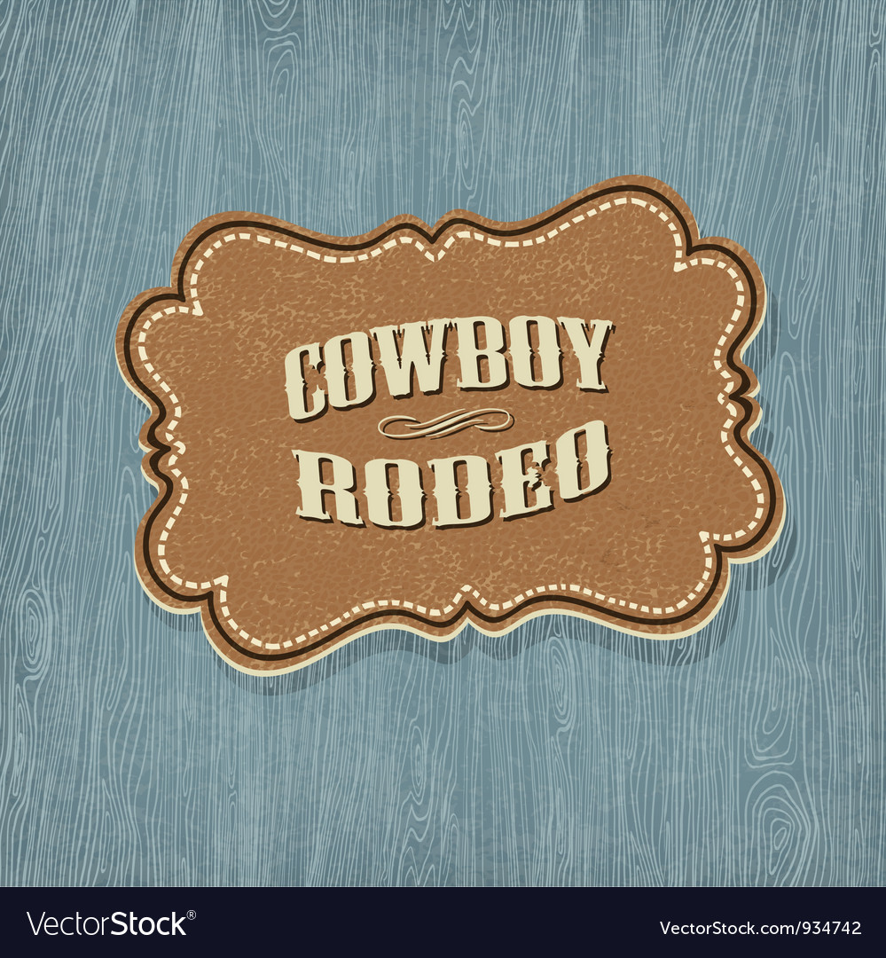 Retro western label vector