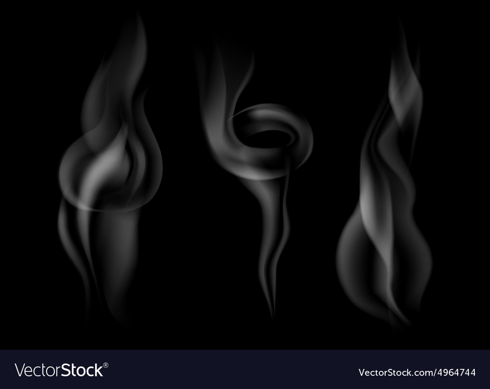 Set of dark smoke vector