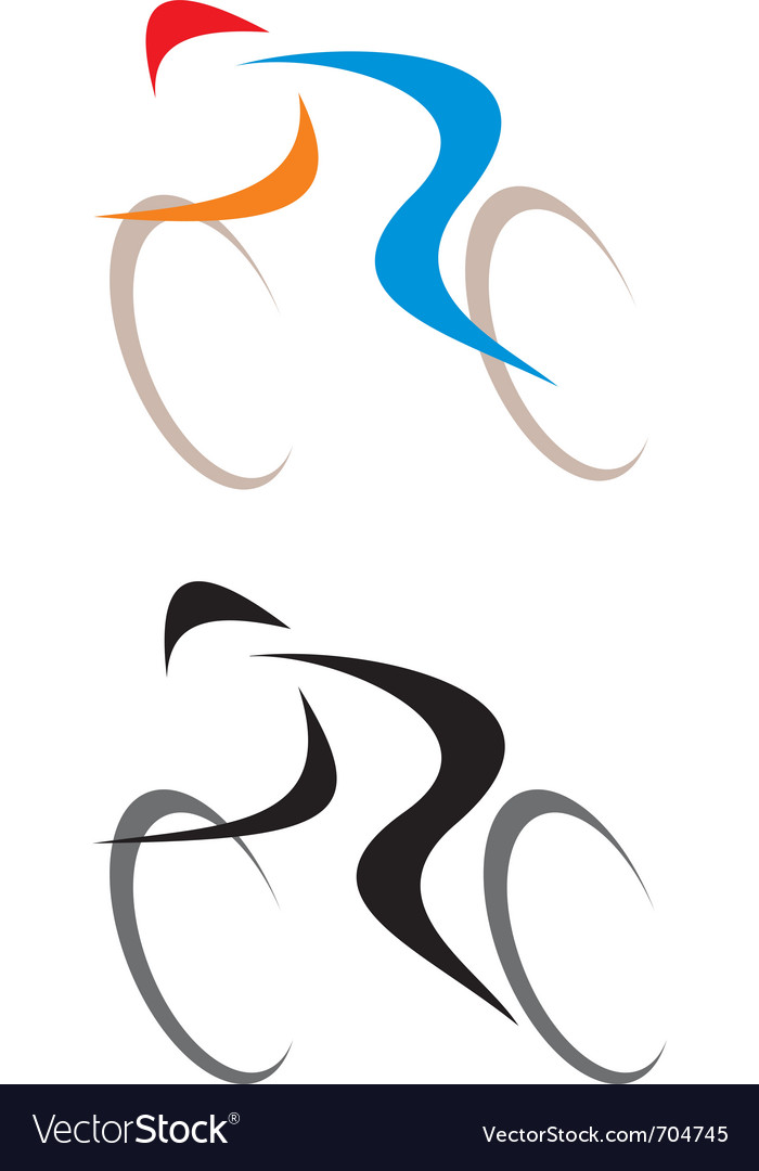 Racing cyclist vector