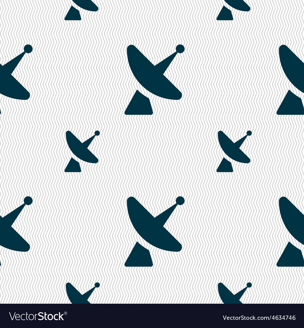 Satellite dish icon sign seamless pattern with vector