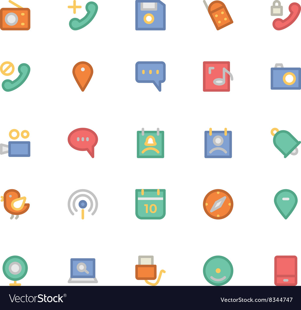 Communication icons 9 vector