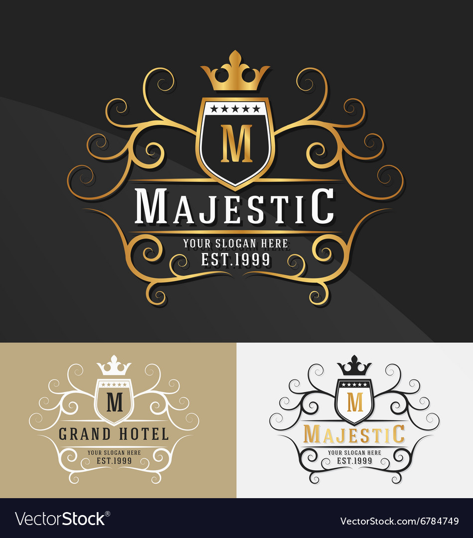 Premium royal crest logo design vector