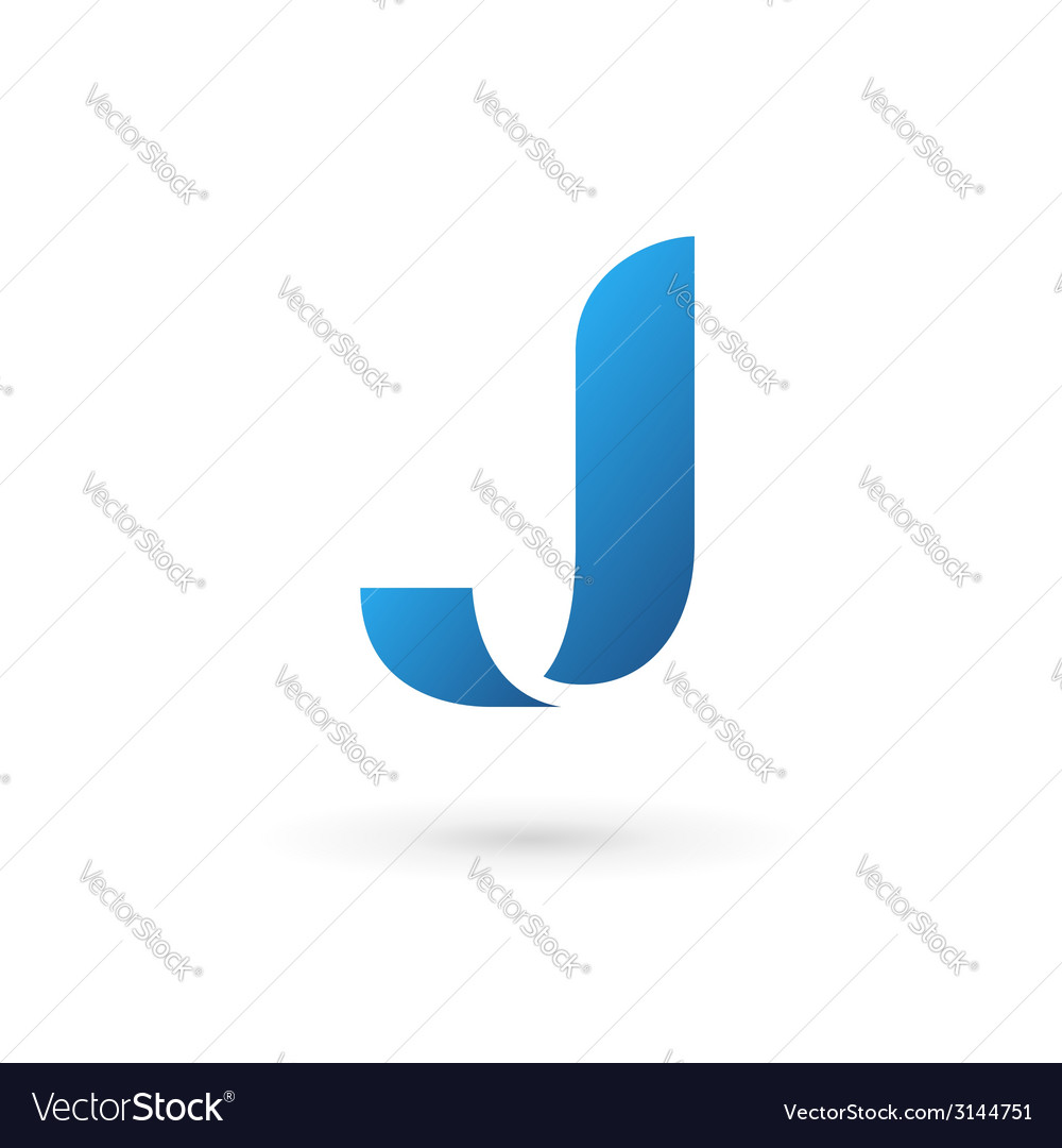 Letter j logo icon vector