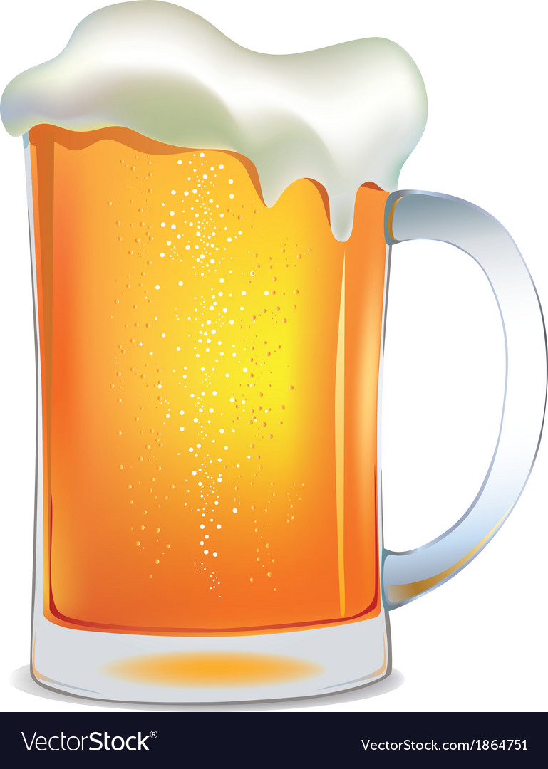 Light beer mug vector