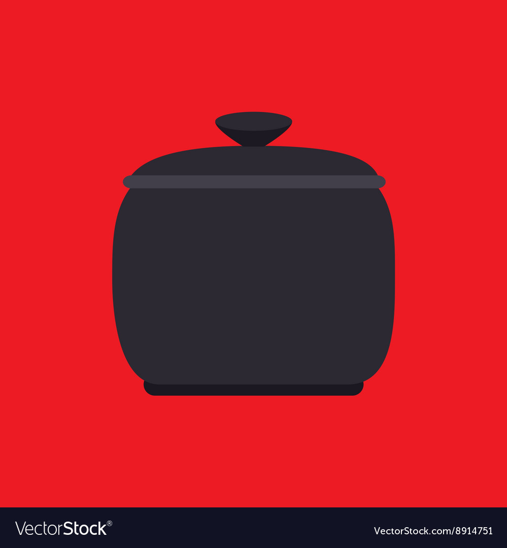 Pot kitchen design vector