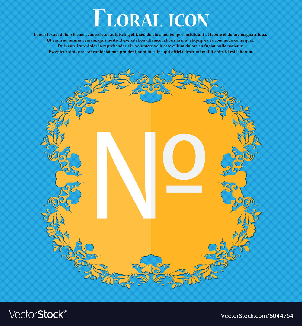 Number icon set flat modern floral flat design on vector