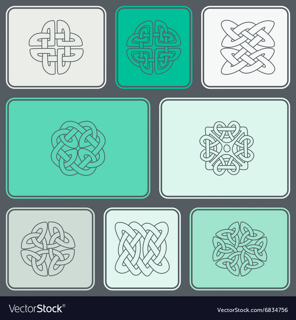 Seamless background with celtic geometric ornament vector