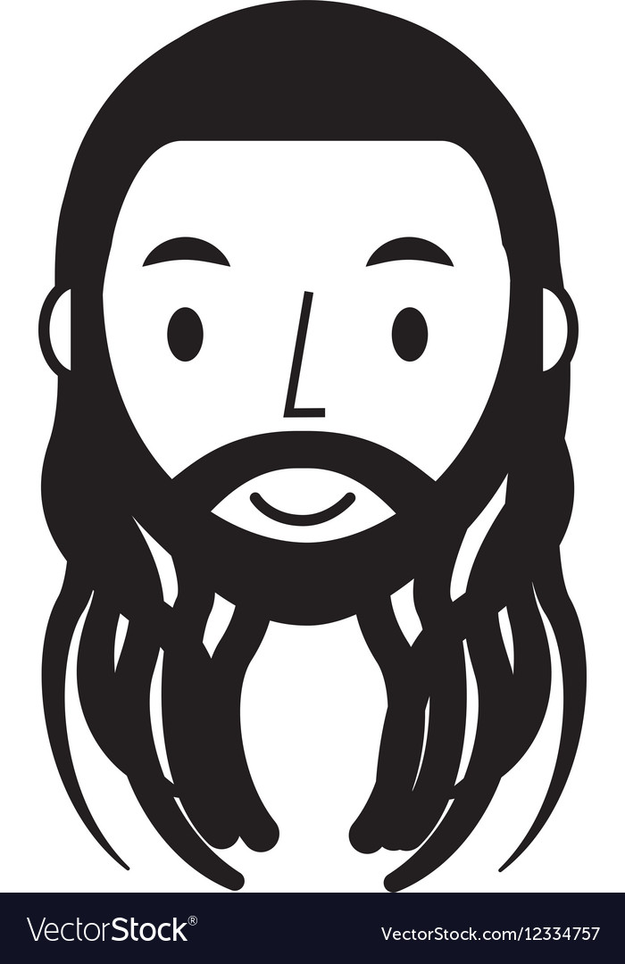Reggae man character icon vector
