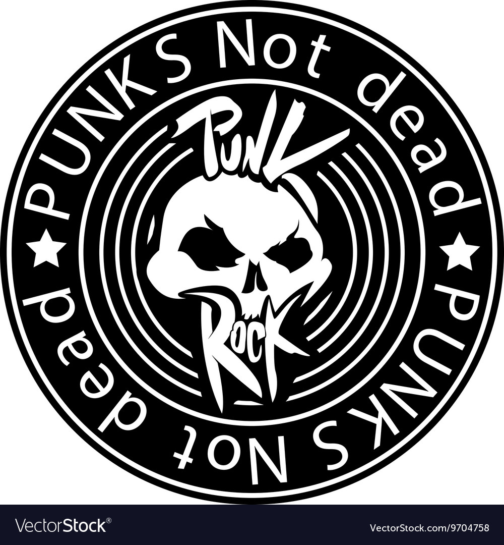 Punk rock logo vector