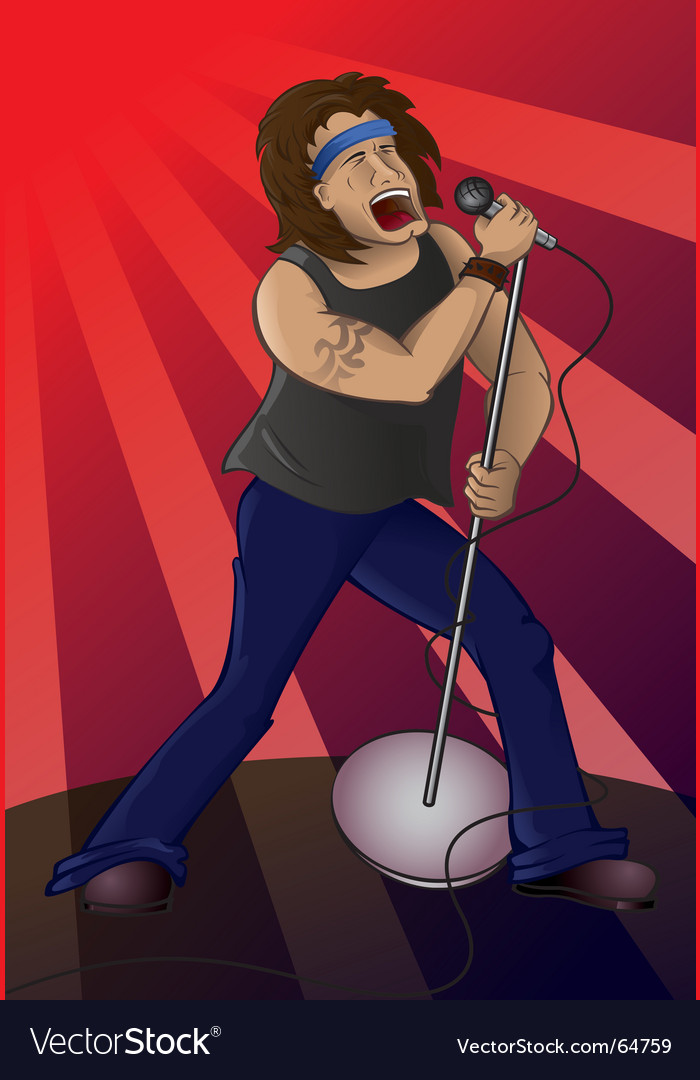 Rock star vector