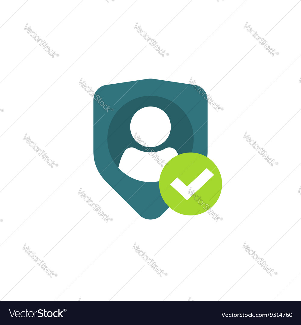 Privacy icon personal protection authentication vector