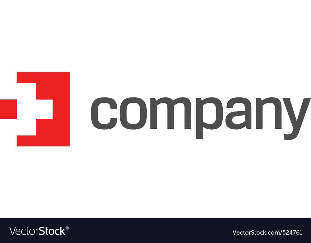 Medicine red cross logo vector
