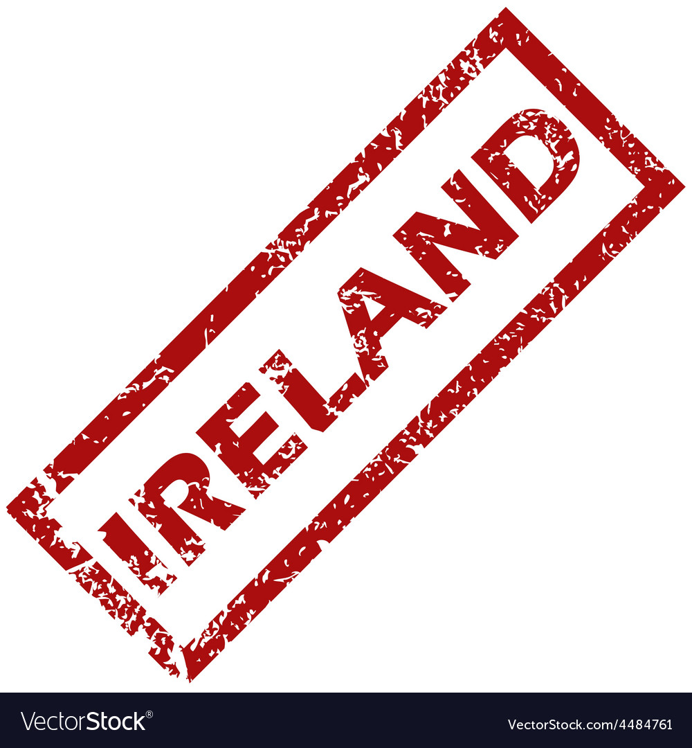 New ireland rubber stamp vector