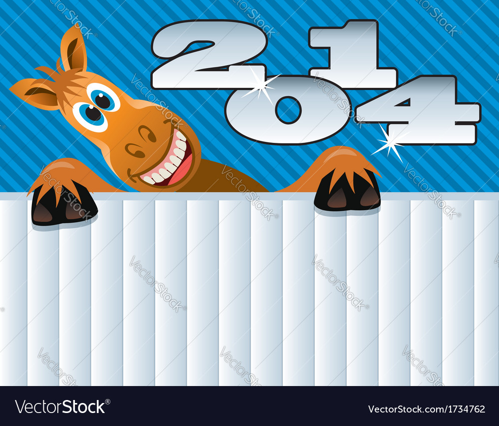 2014 new year of a horse vector