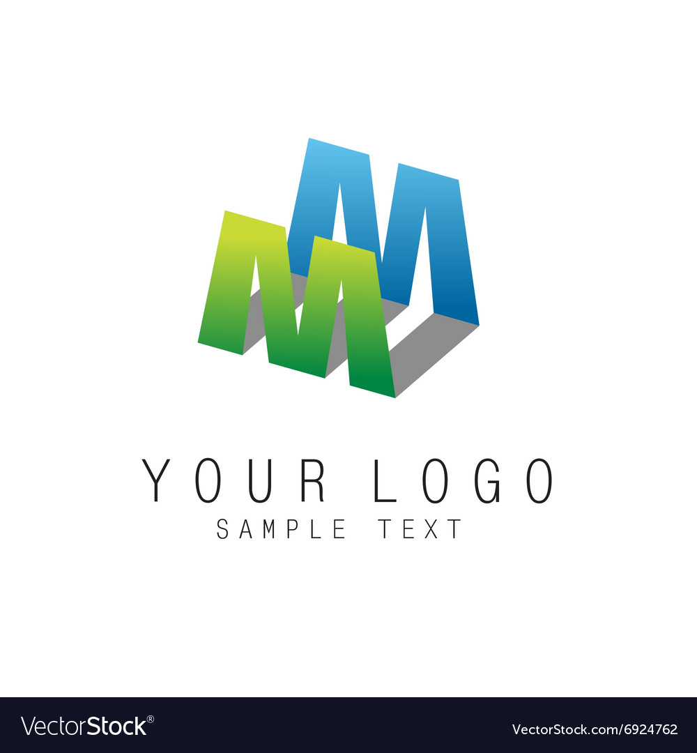 Letter e geometric colorful ribbons style logo vector