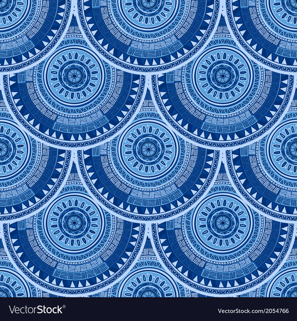 Seamless pattern with ethnic motif vector