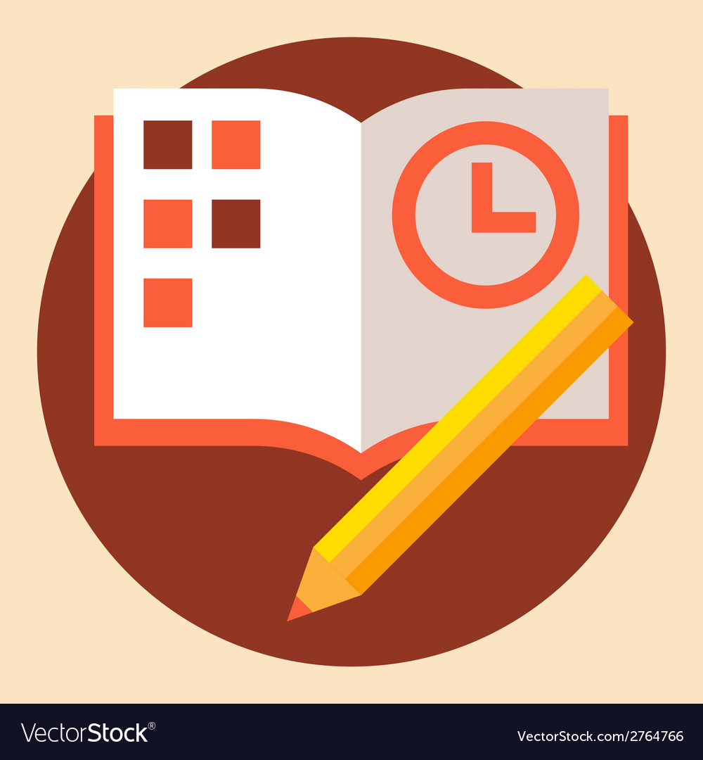Time business organize vector