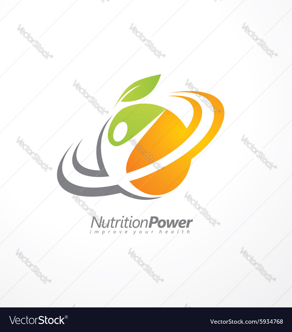 Organic health food creative symbol layout vector
