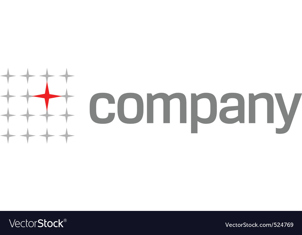 Red star logo for medical vector