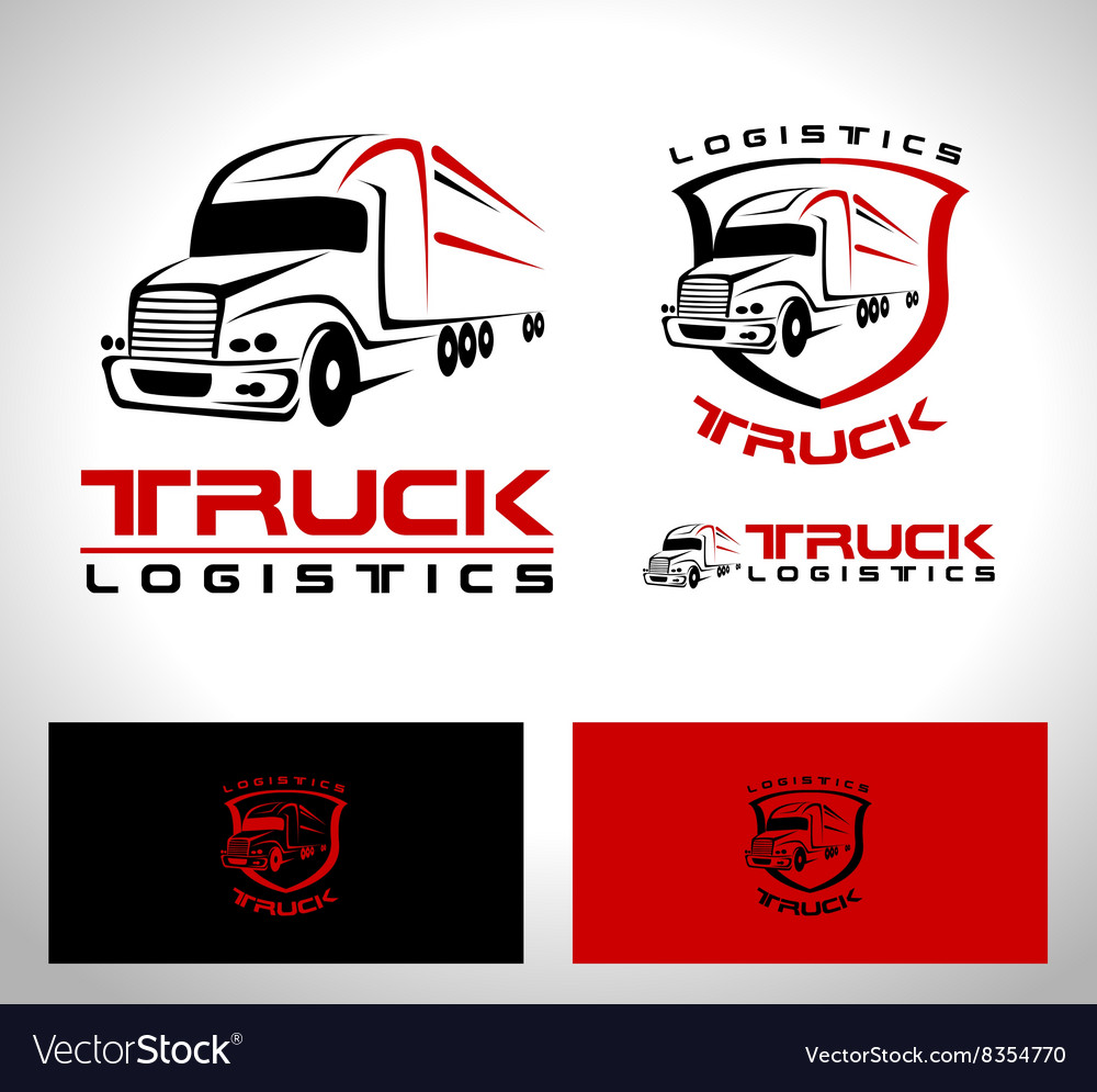 Truck trailer logo vector