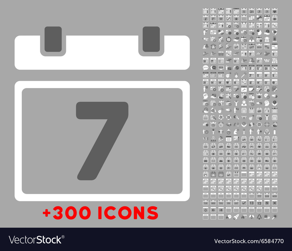 Week flat icon vector