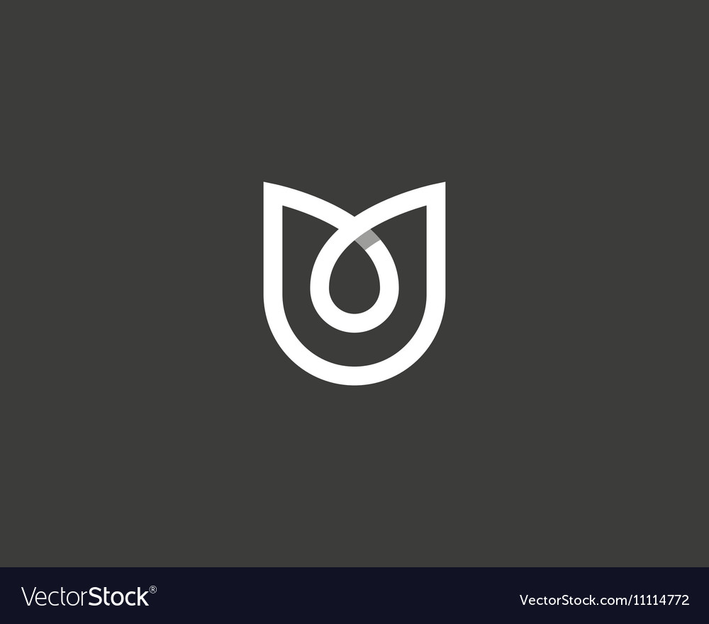 Abstract flower tulip logo icon design vector