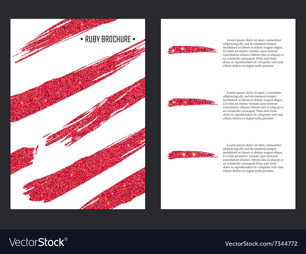Golden brochure template 1 vector