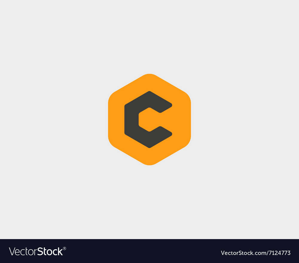 Abstract letter c logo design template colorful vector