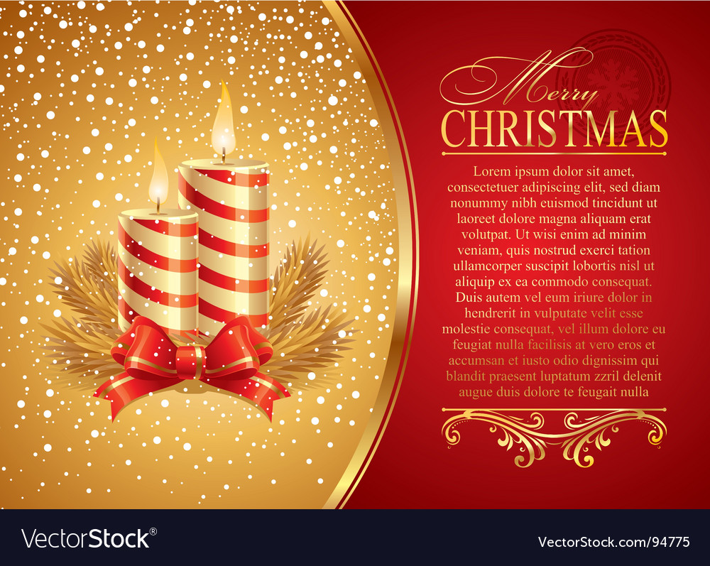 Christmas with holidays candles vector