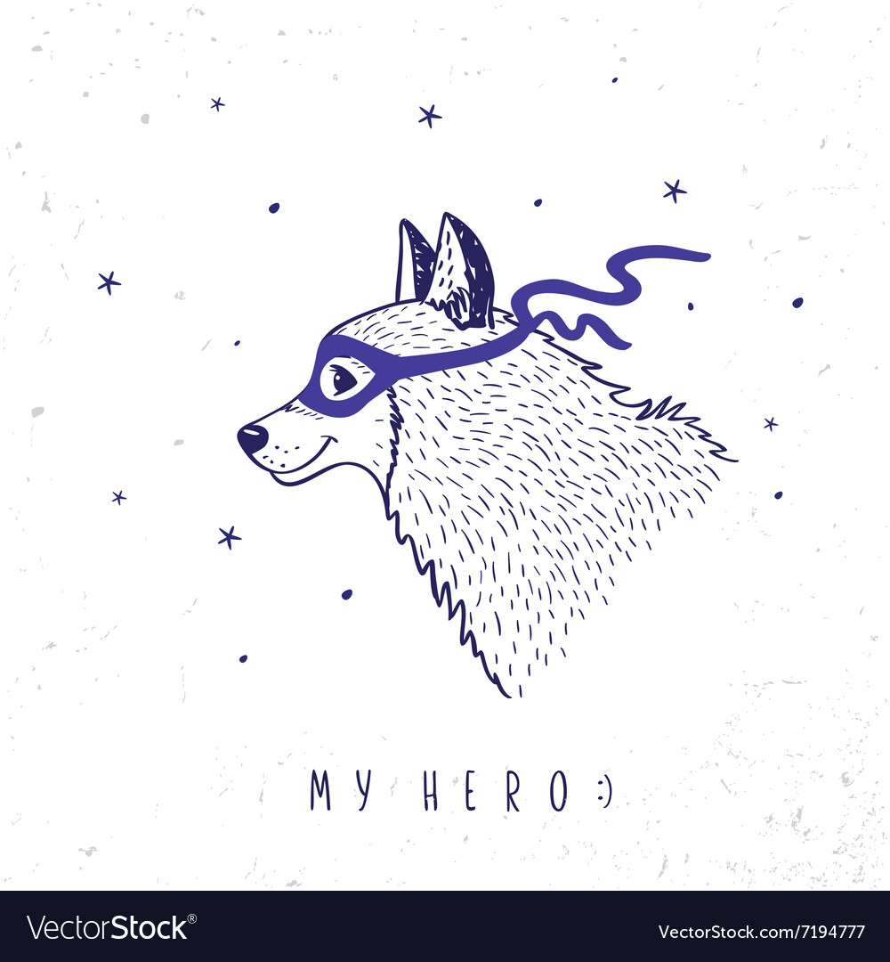 Husky my hero vector