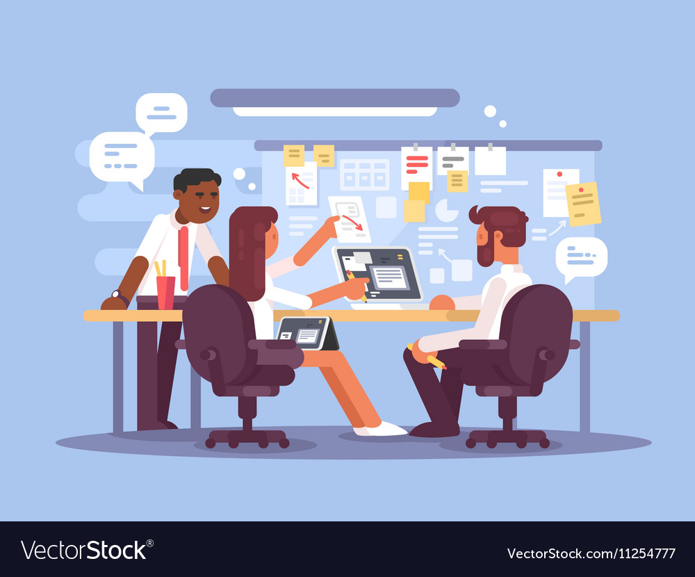 Work schedule working environment vector